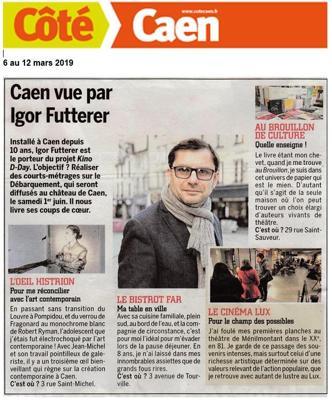 Igor Futterer Côté Caen Portrait 2019