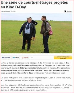Igor Futterer Kino D-DAY Ouest-France Landing Production 2014