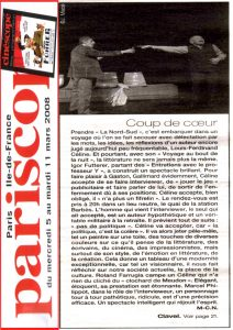 La Nord-Sud - Igor Futterer - Pariscope - 2008