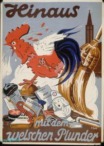 La cigogne n'a qu'une tête Igor Futterer Affiche Annexion Alsace-1