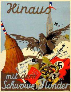 La cigogne n'a qu'une tête Igor Futterer Affiche Annexion Alsace-2