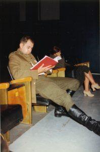 La cigogne n'a qu'une tête Igor Futterer Alain Bordier Répétition Théâtre de Ménilmontant 1997
