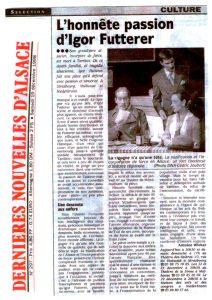 La cigogne n'a qu'une tête - Igor Futterer - Dernières Nouvelles d'Alsace - 1998