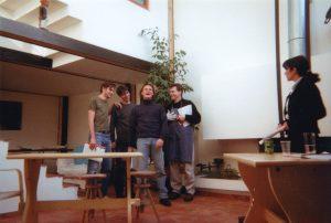 La cigogne n'a qu'une tête Igor Futterer Eric Luttebacher Olivier Sabin Sabine Sabin Sabine SAbin Patrick Casanova Répétition Théâtre de Ménilmontant 1996