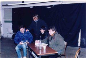 La cigogne n'a qu'une tête Igor Futterer Olivier Sabin Patrick Casanova Répétition Théâtre de Ménilmontant 1996 -3