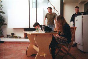 La cigogne n'a qu'une tête Igor Futterer Sabine Sabin Patrick Casanova Répétition Théâtre de Ménilmontant 1996-3