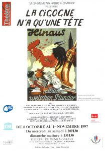 La cigogne n'a qu'une tête Igor Futterer affiche Théâtre de Ménilmontant 1997