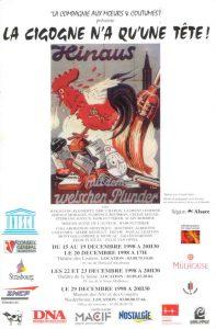 La cigogne n'a qu'une tête Igor Futterer affiche tournée Alsace 1998