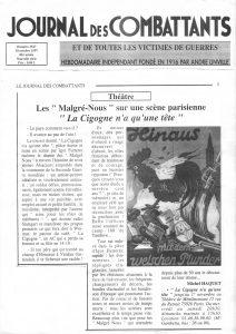 La cigogne n'a qu'une tête Igor Futterer Journal des combattants 1997