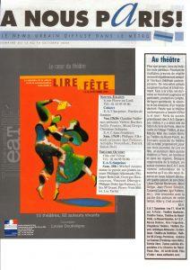 Lire en fête Igor Futterer EAT 2003