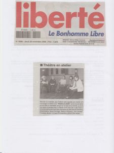 Théâtre en Atelier - Igor Futterer - Liberté - 2008