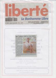 Théâtre en Atelier - Igor Futterer - Liberté - 2009