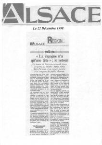 La cigogne n'a qu'une tête - Igor Futterer - L'Alsace - 1998