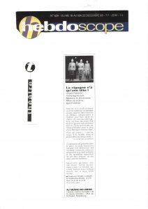 La cigogne n'a qu'une tête - Igor Futterer - L'Hebdoscope - 1998